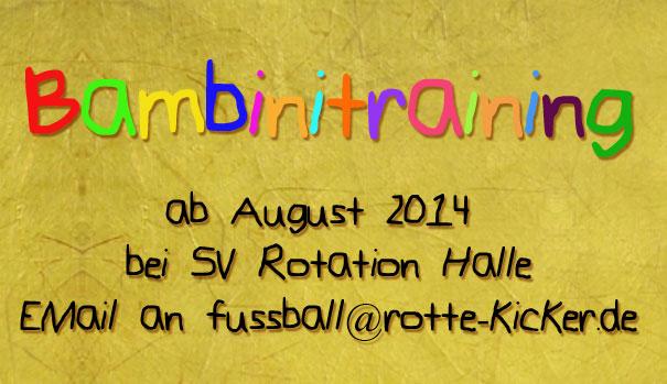 Fußball Bambinitraining 2014 in Halle (Saale), Kinder, 4 bis 6 Jahre